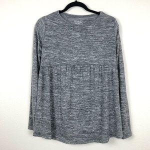 Isabel Maternity Heather Gray Baby Doll Top